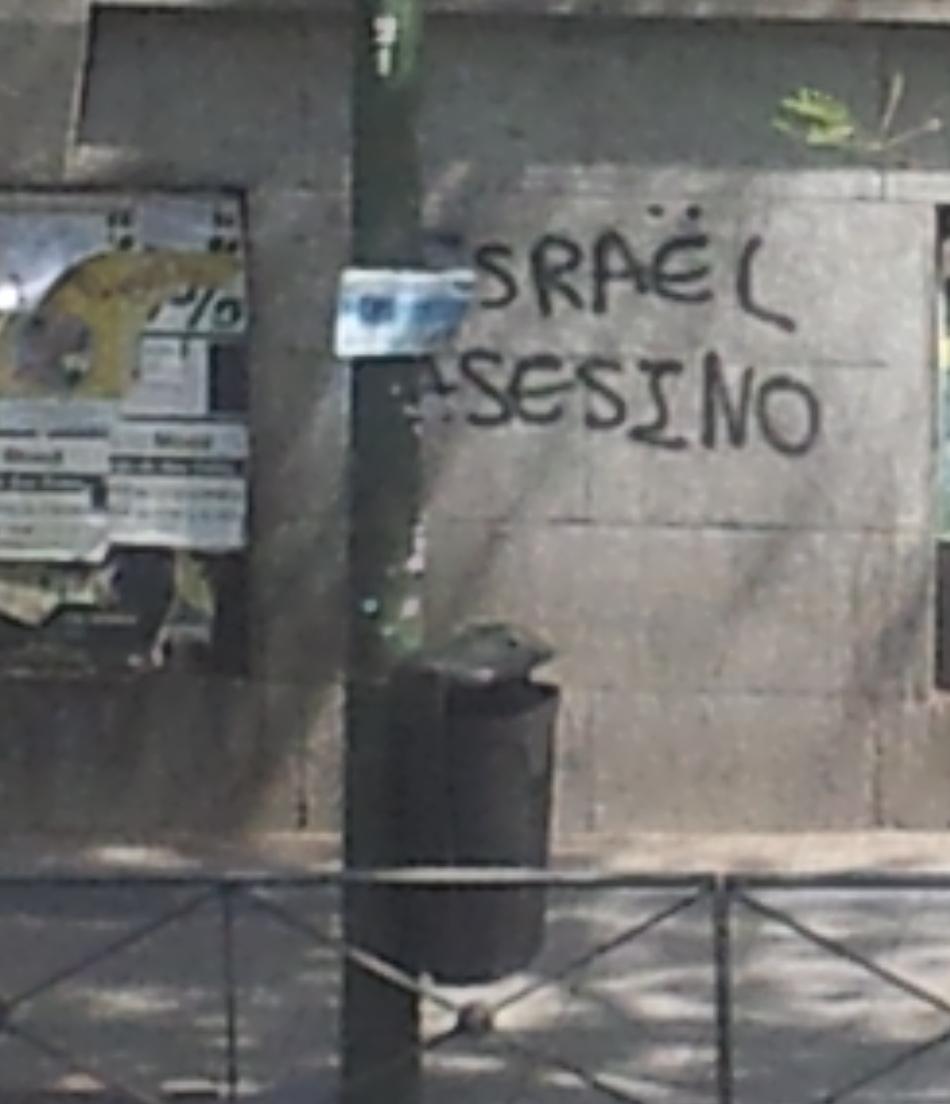 Israel asesino graffiti