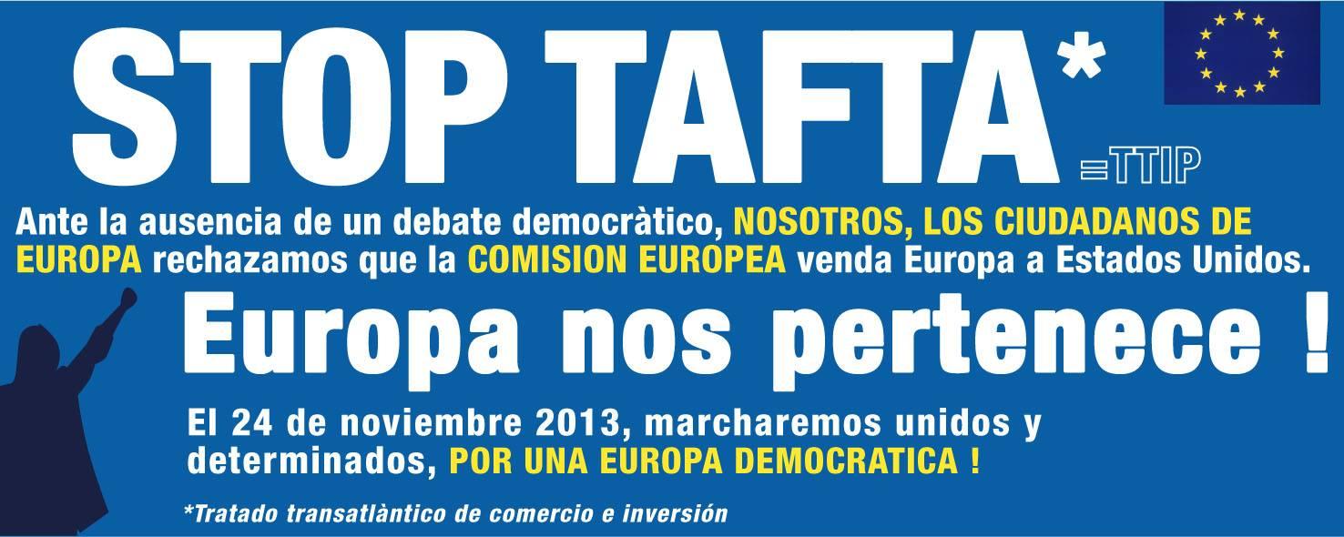 No al tratado de libre comercio TAFTA