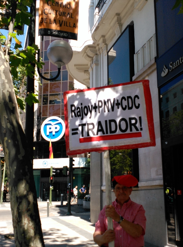 Rajoy + PNV + CDC Traidor